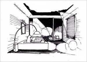 イラスト2:大人の空間