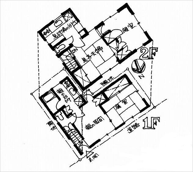 """イラスト3:わずか16坪でもできる同居""""共働""""住宅プラン"""