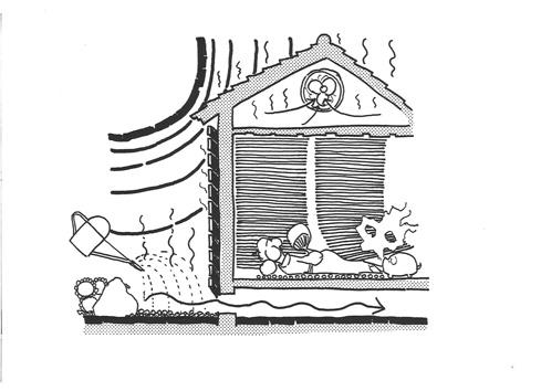 「傘の家」の自然の家