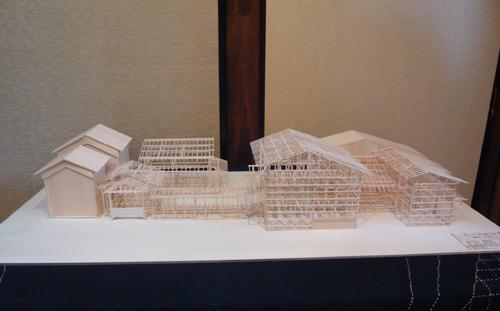 京都町家の模型