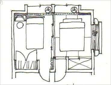 3枚の襖(ふすま)を立て「夫/婦寝室」にするプラン