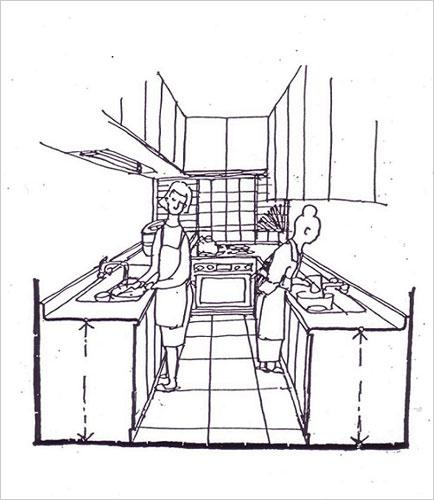 「ダブルキッチン」で同じ台所