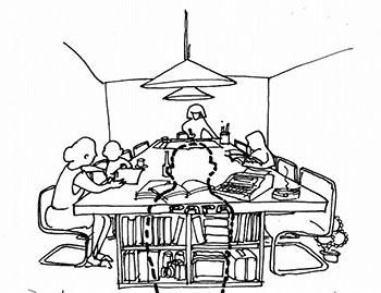 LDKの家族の居る間ジャンボテーブル