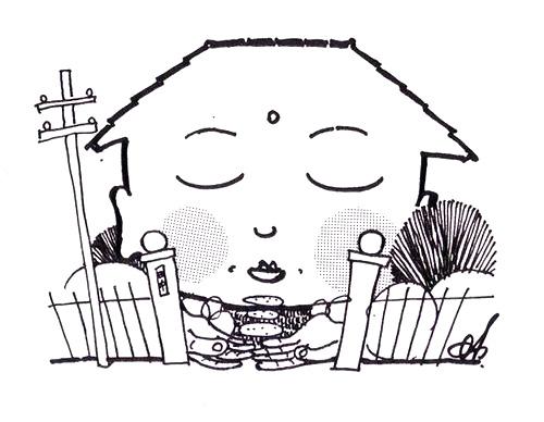 イラスト2:住まいの顔は家族の顔