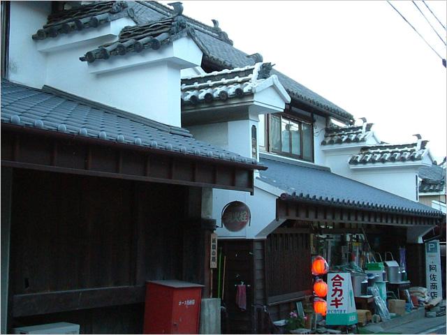 写真1:四国脇町 街道のうだつ