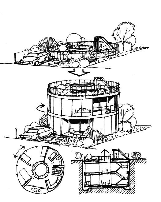 イラスト2:浮き沈みそして回転する「カルーセルハウスイメージ」
