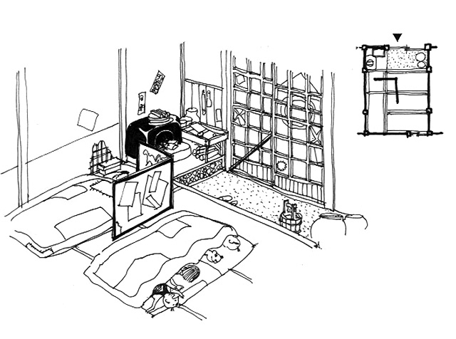 イラスト:改めて熊さん八っあんの江戸の裏長屋の暮らし(画:天野彰)