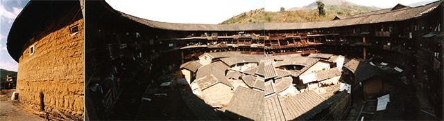 写真2:中国永定客家の土楼の集合住宅(撮影:天野彰)