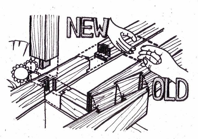 イラスト:枘差(ほぞさし)木組みの構造(図:天野彰)