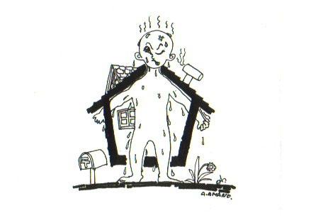 イラスト:傘の家(画:天野彰)