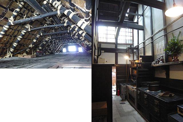 写真:高断熱の藁の屋根と高通気の妻側障子(天野彰)