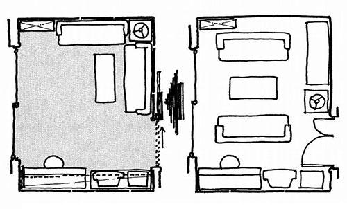 イラスト2:家具の積み上げで広いスペースが生まれ家事が楽しくなる(画:天野彰)