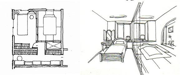 夫婦の勝手な和洋寝室 時に一体時に別々(画:天野彰)