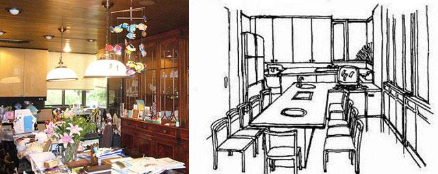 お馴染み「ジャンボテーブル」とそのプラン(画:天野彰)