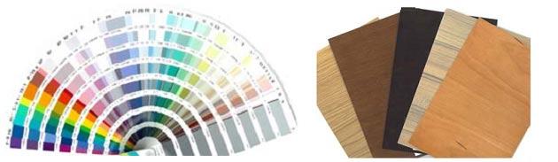 素材(天然木)カラーサンプル