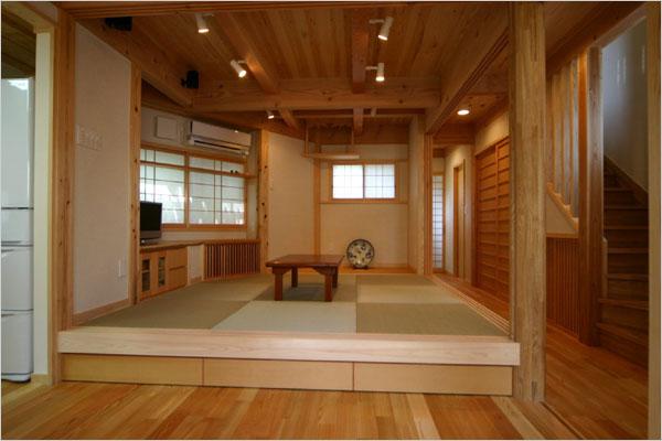 畳の続き間:障子の開け閉めで広くも狭くも楽しく使える